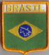 Brazil Embroidered Flag Patch, style 06.